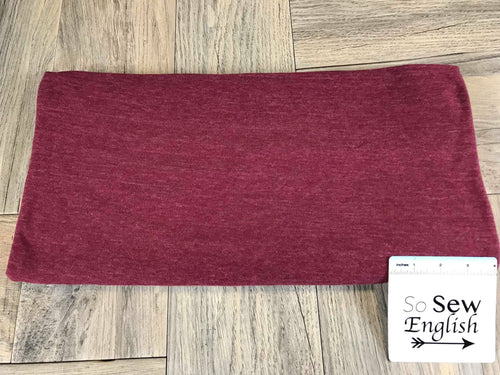 Solid Burgundy- Poly Cotton Jersey - By the yard