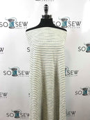 Ivory/Sage Stripe- Cotton Double Knit - By the yard