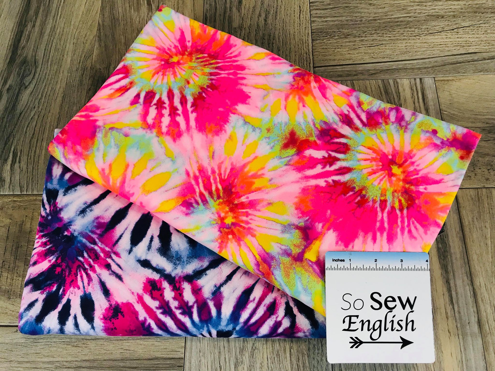 6c206c0b096 Neon Pink SPIRAL TIE DYE - Double Brushed Poly Spandex -By The Yard ...