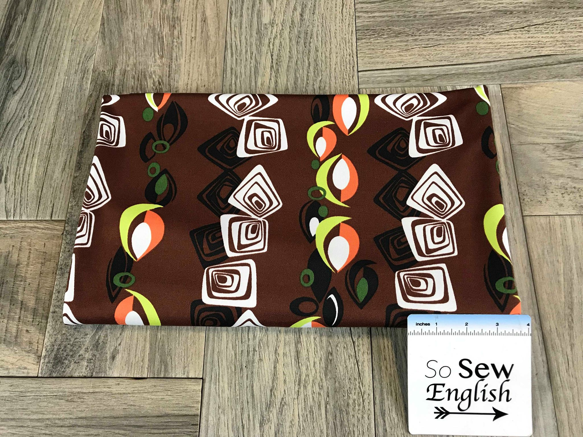 "Chocolate ""Tiki"" Print -Swim -By The Yard"
