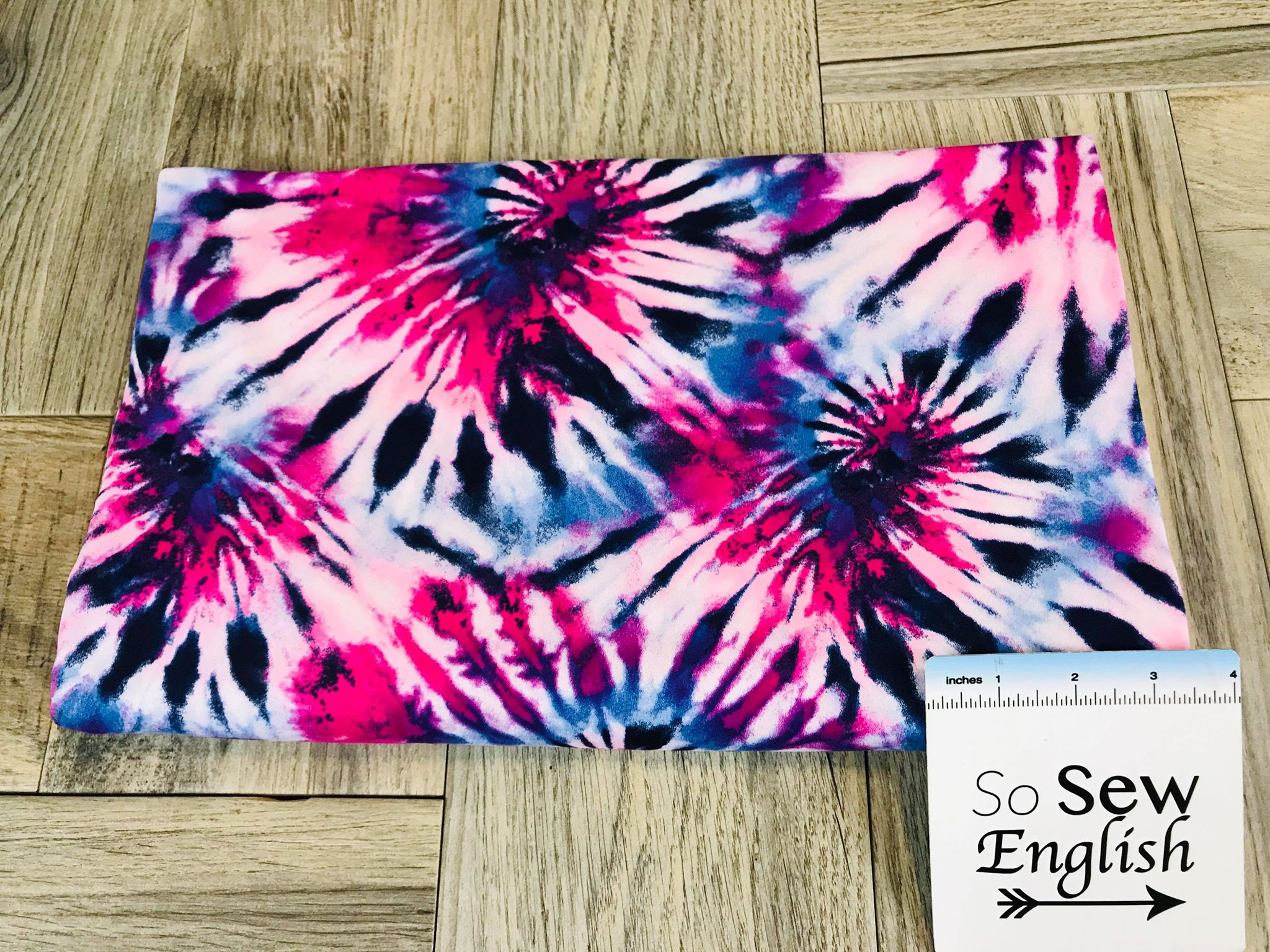 b3b15e72cbe Berry SPIRAL TIE DYE - Double Brushed Poly Spandex -By The Yard – So Sew  English Fabrics