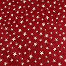 Red Glow Stars -Lewis & Irene Cotton Woven- By the yard