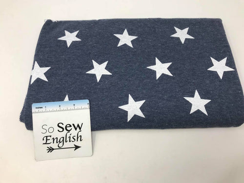Navy STAR THERMAL  - THERMAL Knit - Cotton Poly Spandex- By the yard