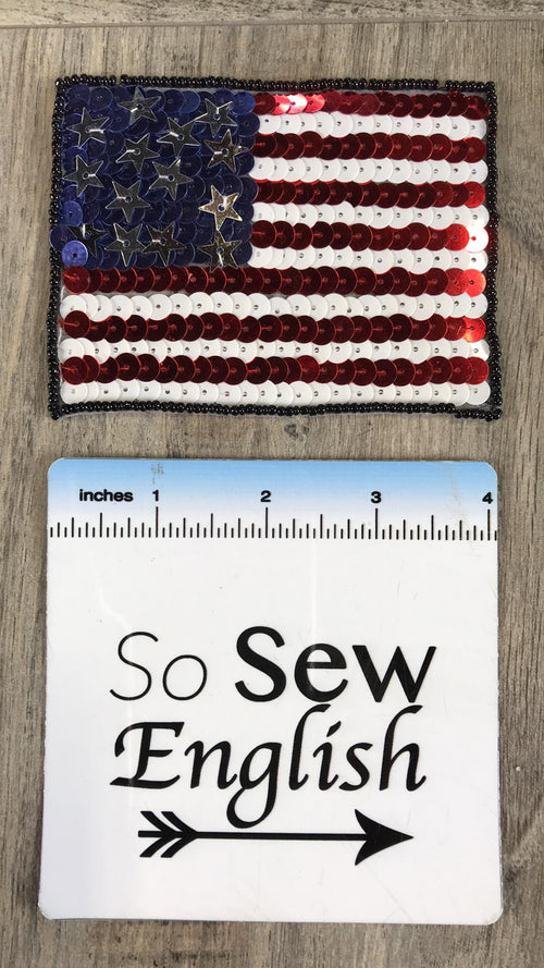 Sequins Flag- Patch- Sold Individually