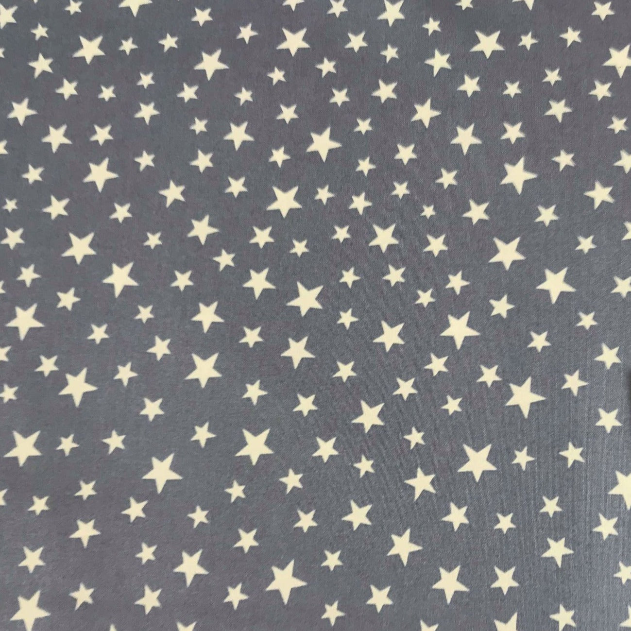 Grey Glow Stars -Lewis & Irene Cotton Woven- By the yard