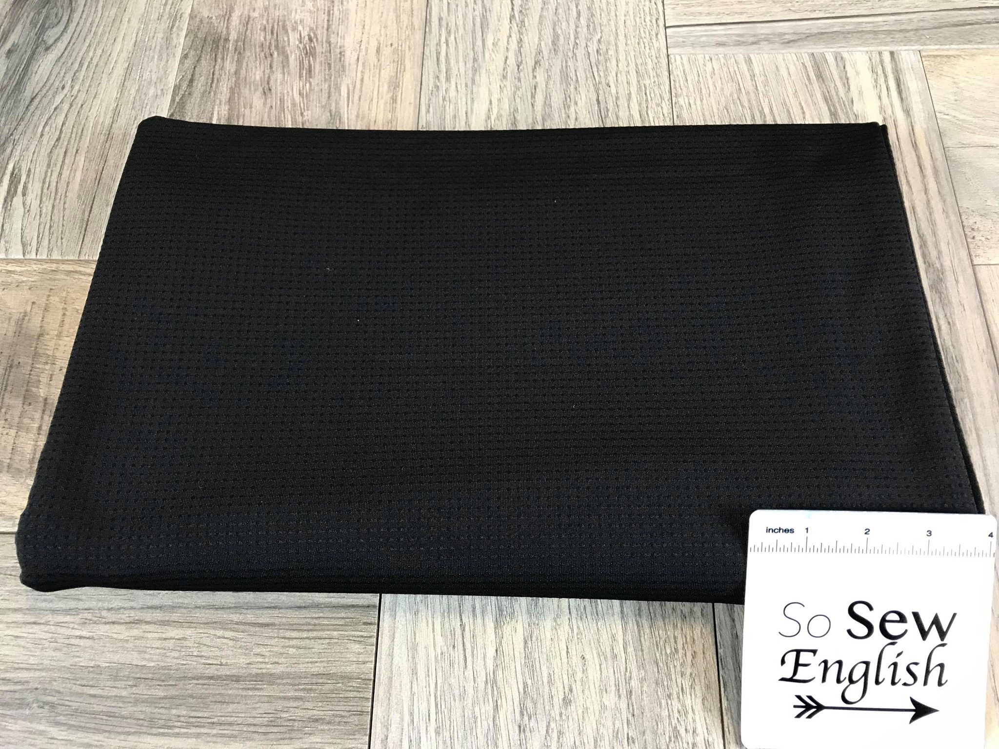 Black Dimple -320GSM Performance Mesh-By The Yard