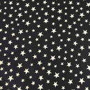 Black Glow Stars -Lewis & Irene Cotton Woven- By the yard