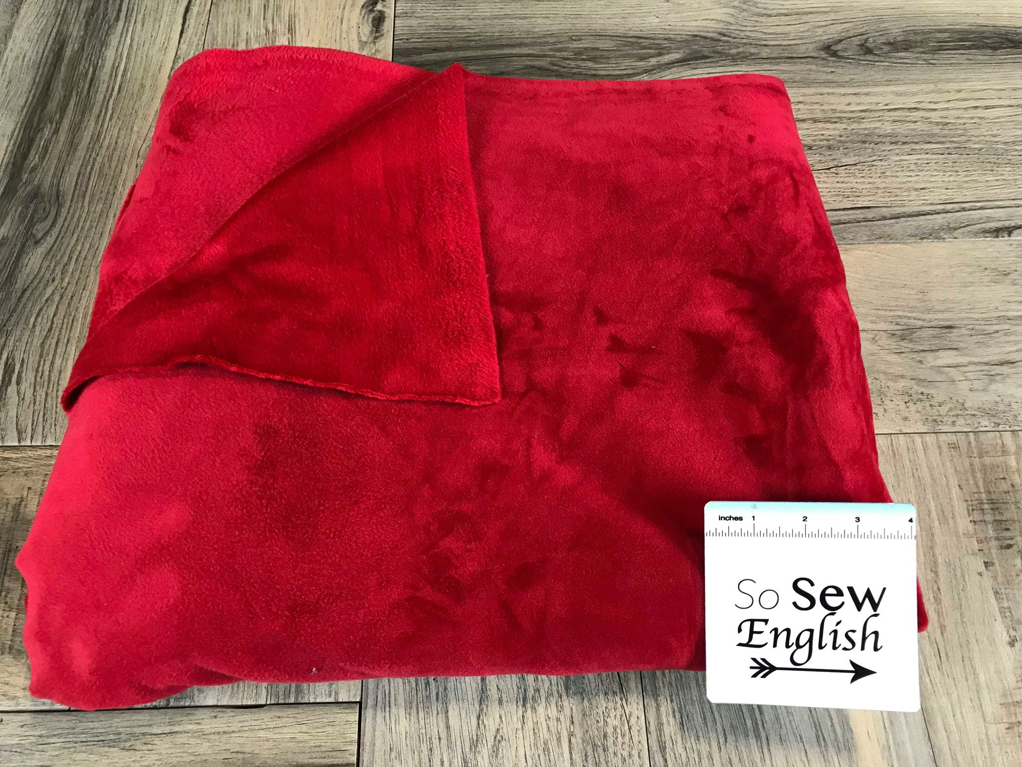 Solid Red- VELVET PLUSH - By the yard