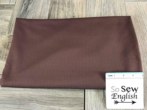Solid Chocolate- 320gsm Dimple Performance Mesh -By The Yard