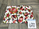 Ivory Floral Crosses - Rayon Jersey -By the yard