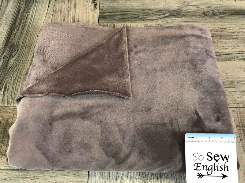 Solid Mocha - VELVET PLUSH - By the yard