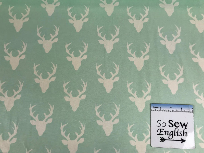 MINT Buck Forest -Art Gallery Cotton Spandex -By The Yard
