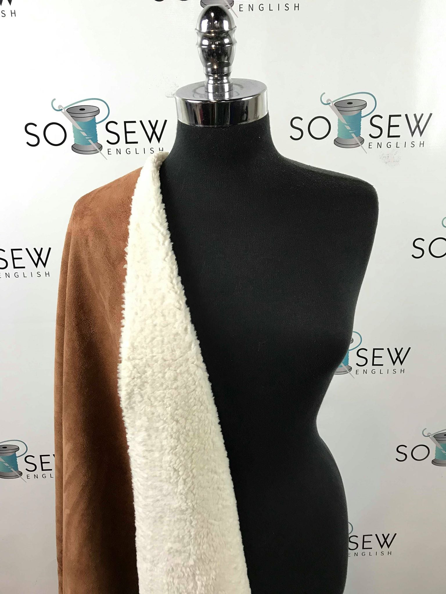 Rusty Mocha -Suede Bonded Sherpa Woven- By the Yard