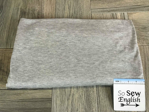 Heather Grey -Thermal Knit- By the yard