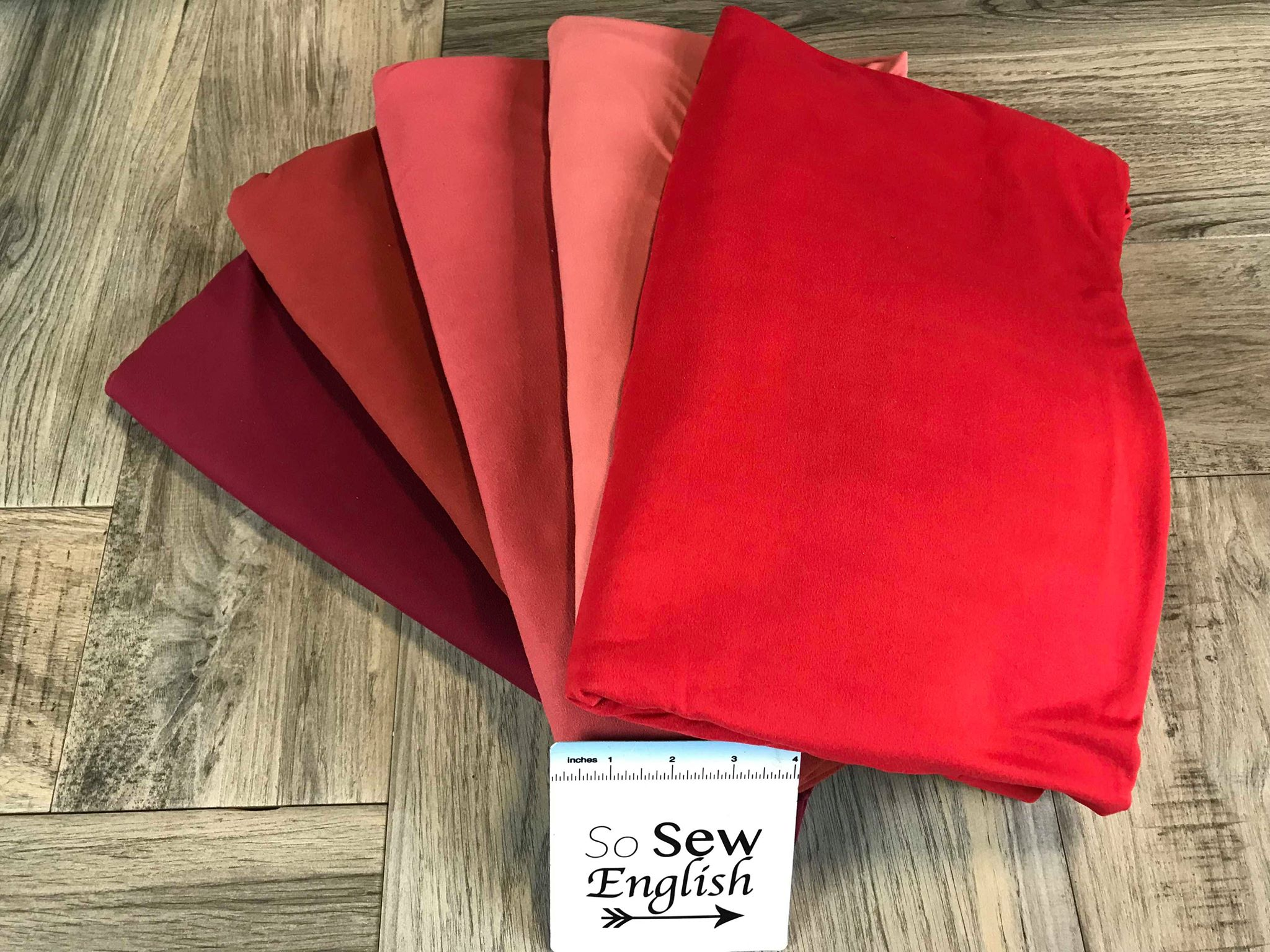 Solid Red- Double Brushed Poly Spandex -By The Yard