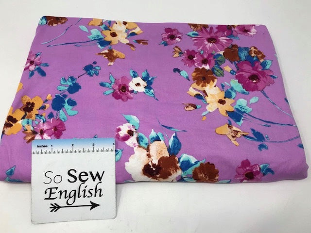Lilac/Magenta GEORGIA - Double Brushed Poly Spandex -By The Yard