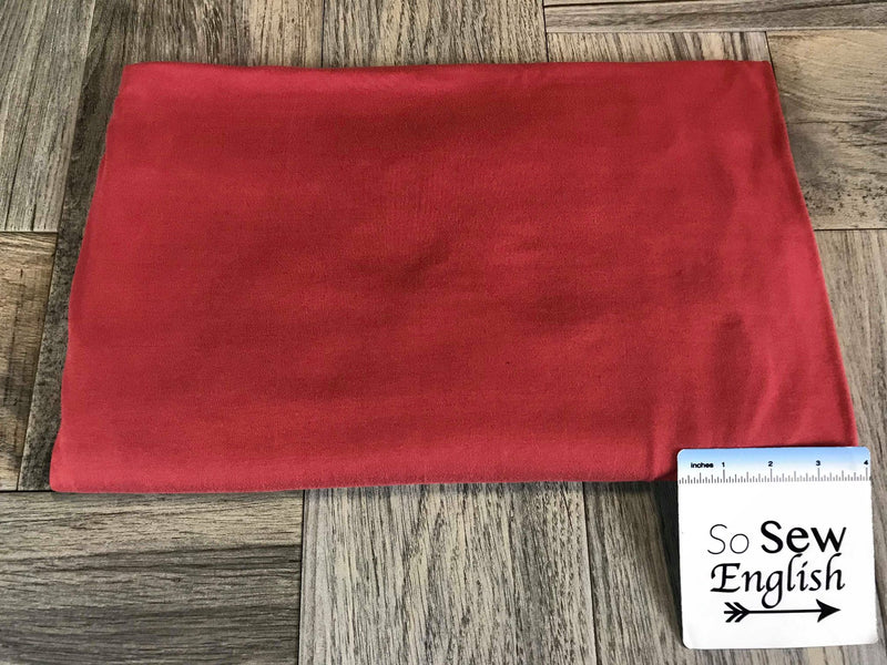 Solid Aurora Red - Double Brushed Poly Spandex -By The Yard