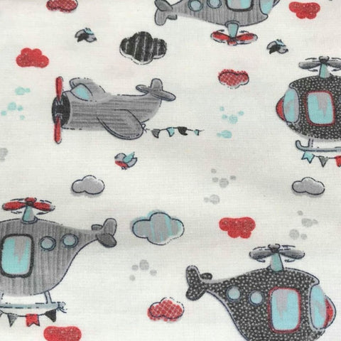 Soft Black/Ivory FANCY UNICORNS- Poly Cotton Spandex  French Terry - By the yard