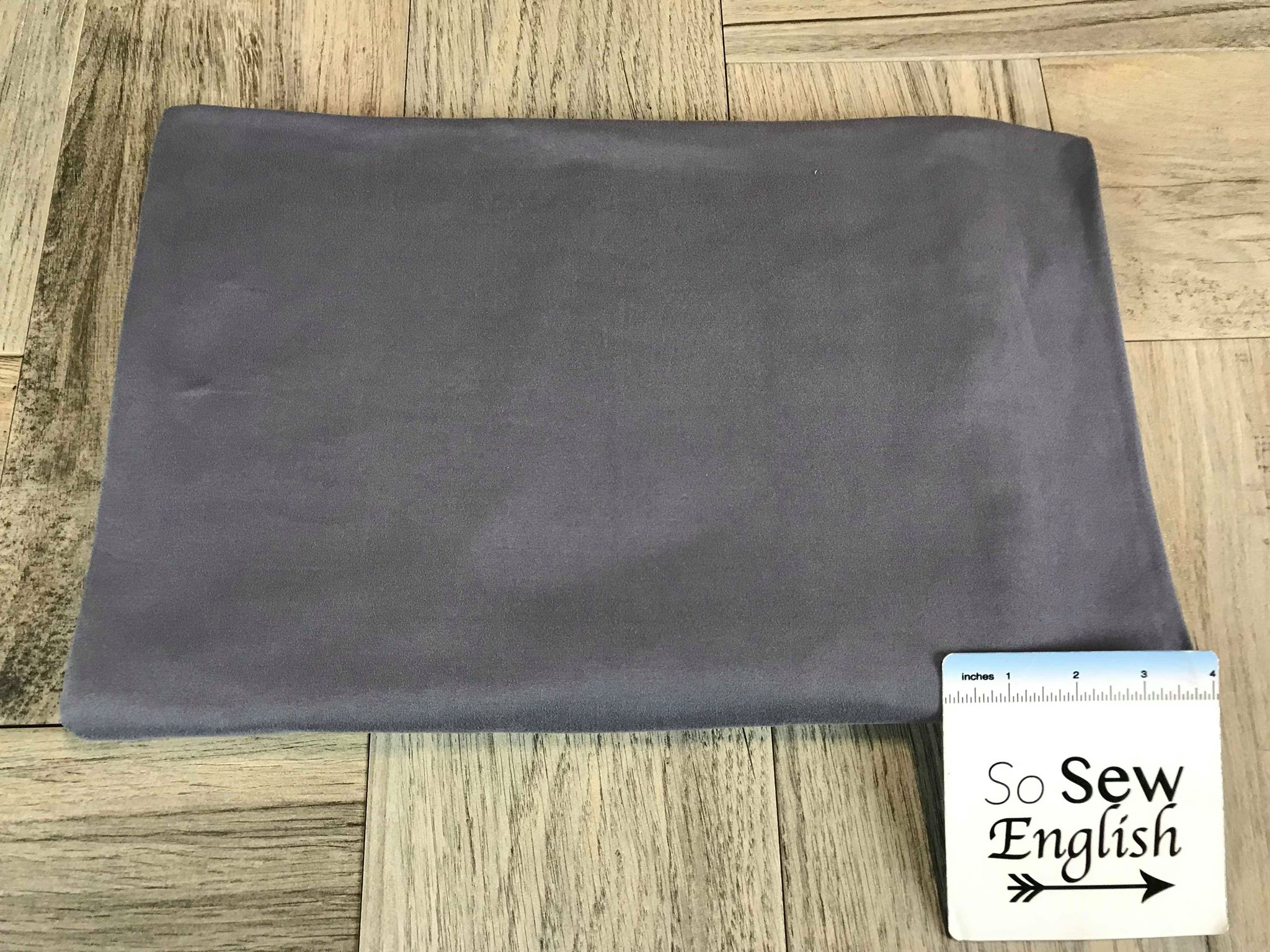 Solid Charcoal- Double Brushed Poly Spandex -By The Yard