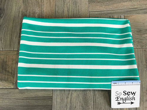 Jade Variegated Stripe- LIVERPOOL Knit - By the yard