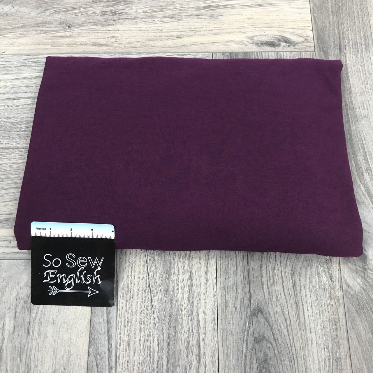 Solid GRAPE - Poly Rayon Spandex -By the yard