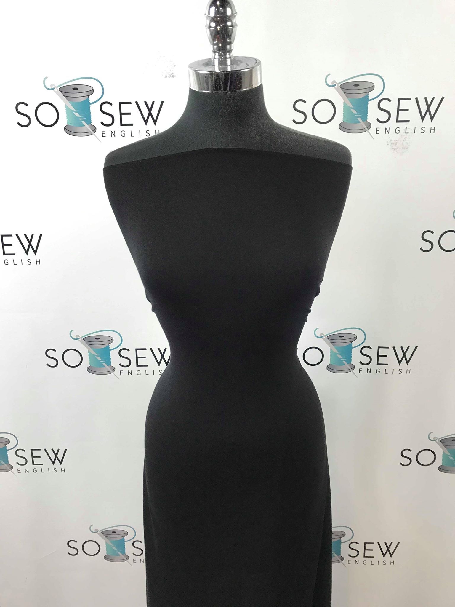 Solid Black -Viscose from Bamboo Spandex- By the yard