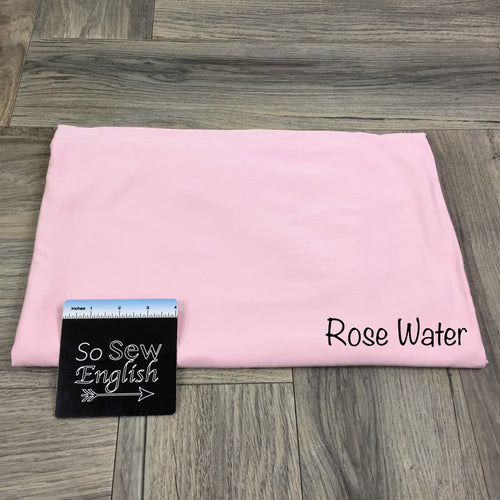 Solid- ROSE WATER- 220gsm Modal Spandex - By the yard
