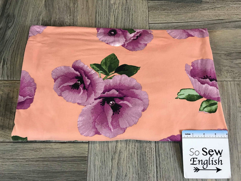 Blush/Mauve POPPY- Double Brushed Poly Spandex -By The Yard