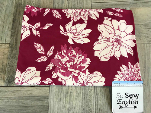 Burgundy NANCY- Double Brushed Poly Spandex -By The Yard