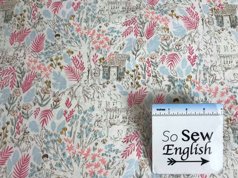 Navy SEWING MACHINE DOT- French Terry- By the yard