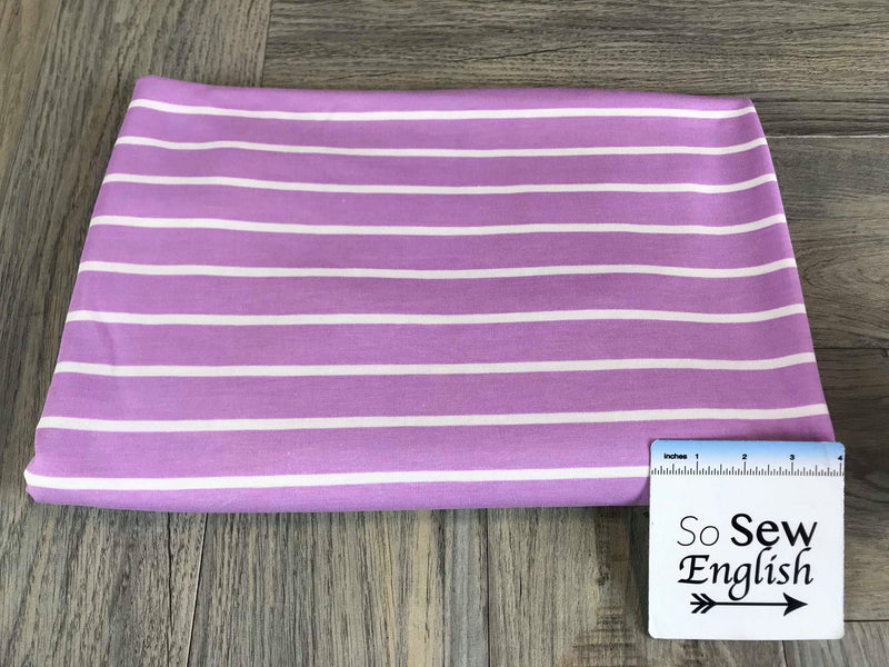 Orchid SAM STRIPE -French Terry- By the yard