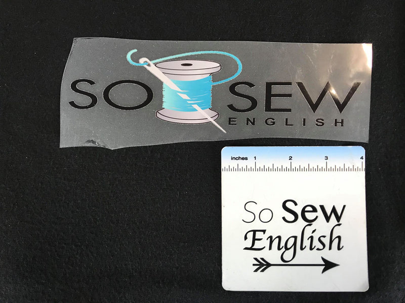 So Sew English -Iron On Decal- Sold Individually