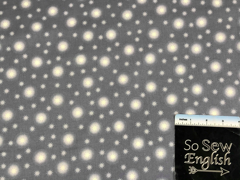 Grey Starry Sky-Lewis & Irene Cotton Woven- By the yard