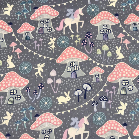 Blue Unicorn Spots-Lewis & Irene Cotton Woven- By the yard