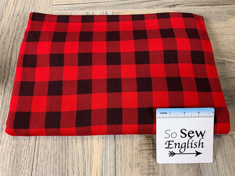 Red SCOTTIE DOGS -Domestic Double Brushed Poly Spandex -By The Yard