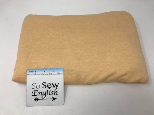 Light Mustard TRIBLEND -Poly Cotton Rayon  French Terry - By the yard