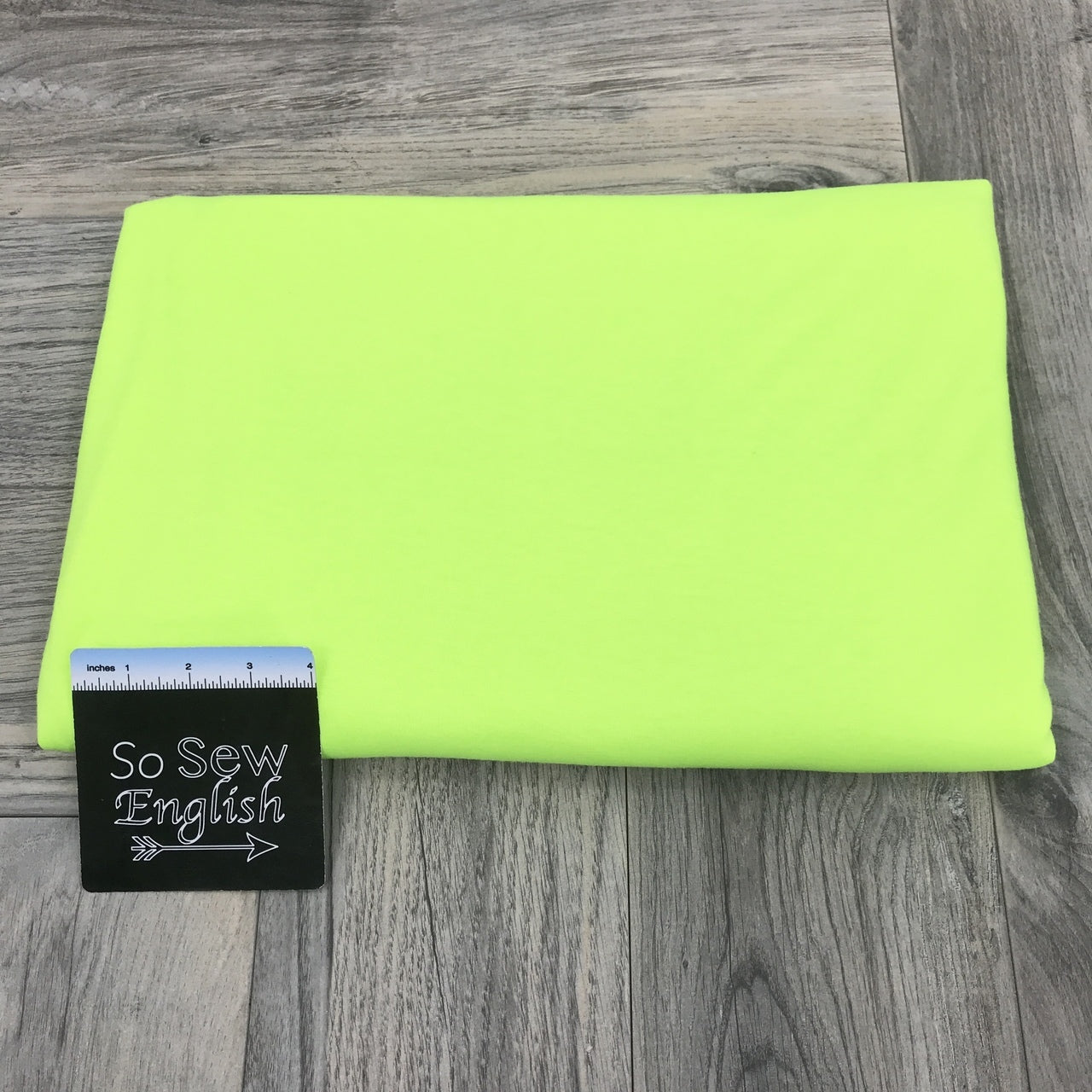 Solid NEON LIME- Poly Rayon Spandex -By the yard