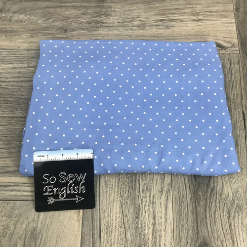 Chambray DOTS - Rayon Challis WOVEN -- By the yard