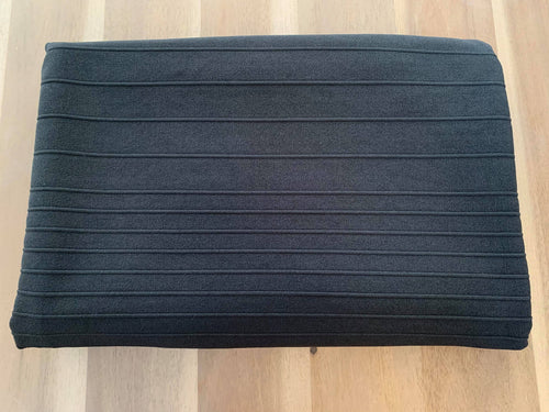 Black Ottoman - Polyester Spandex - By the yard