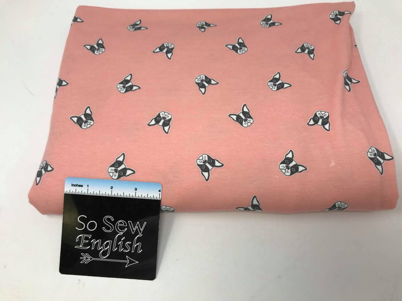 Blush PUPPY DOGS - Poly Rayon French Terry - By the yard