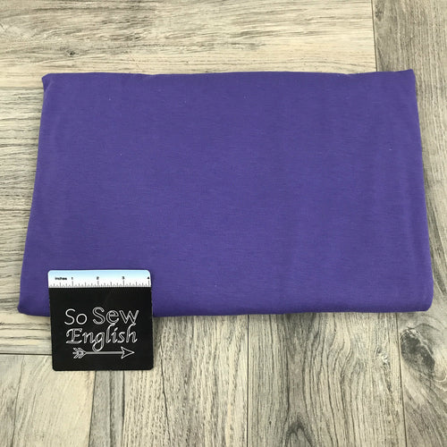Solid PURPLE- Poly Rayon Spandex -By the yard