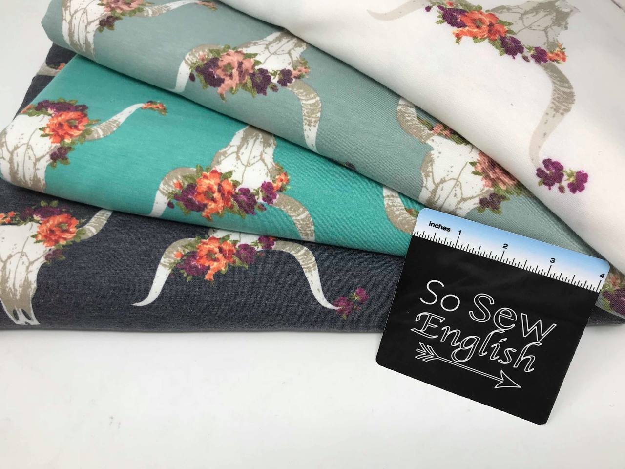 Light Teal JezeBULL - Poly Rayon Span French Terry - By the yard