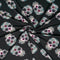Black SUGAR SKULLS- Double Brushed Poly Spandex -By The Yard