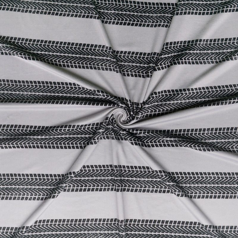 Tire Tracks - Double Brushed Poly Spandex -By The Yard