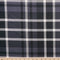 Black/Grey Perth Plaid - Double Brushed Polyester - By The Yard