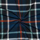 Blue/Rust Perth Plaid - Double Brushed Polyester - By The Yard