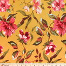 Mustard/Mauve Zoe - Double Brushed Polyester - By The Yard