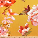 Mustard/Coral Brianne - Double Brushed Polyester - By The Yard