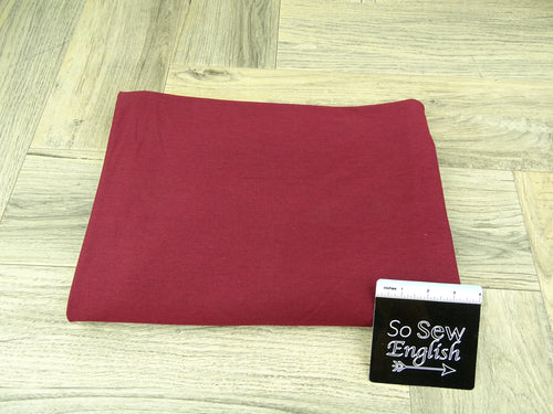 Solid Burgundy -Micro Viscose Cotton Spandex - By the yard