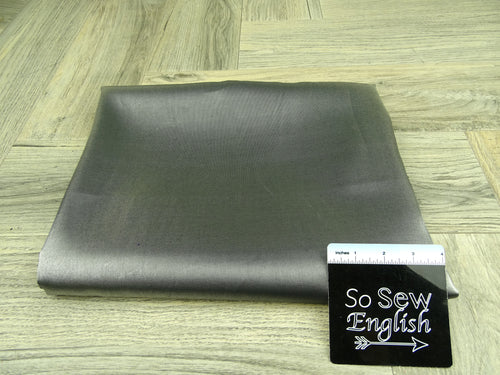 Dark Silver Crystal Satin WOVEN - By the yard